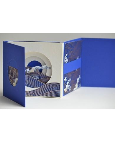 Tunnel book Hokusai interno