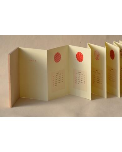 calendar washi red struttura concertina