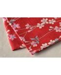 Furoshiki 068 fiori rosso