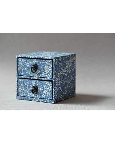 Scatola cassetti blu