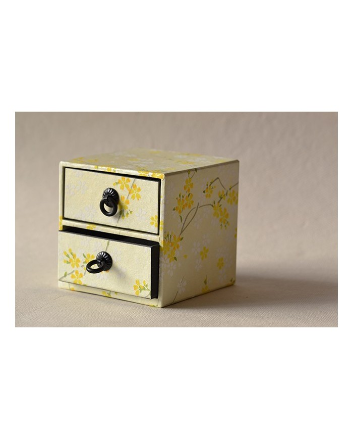 Scatola cassetti gialla
