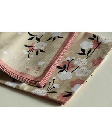 Furoshiki 081 sakura fondo beige