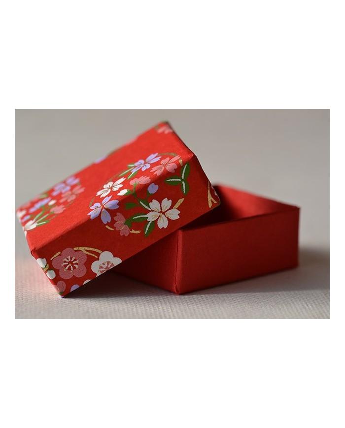 Mini scatola Chiyogami fiori
