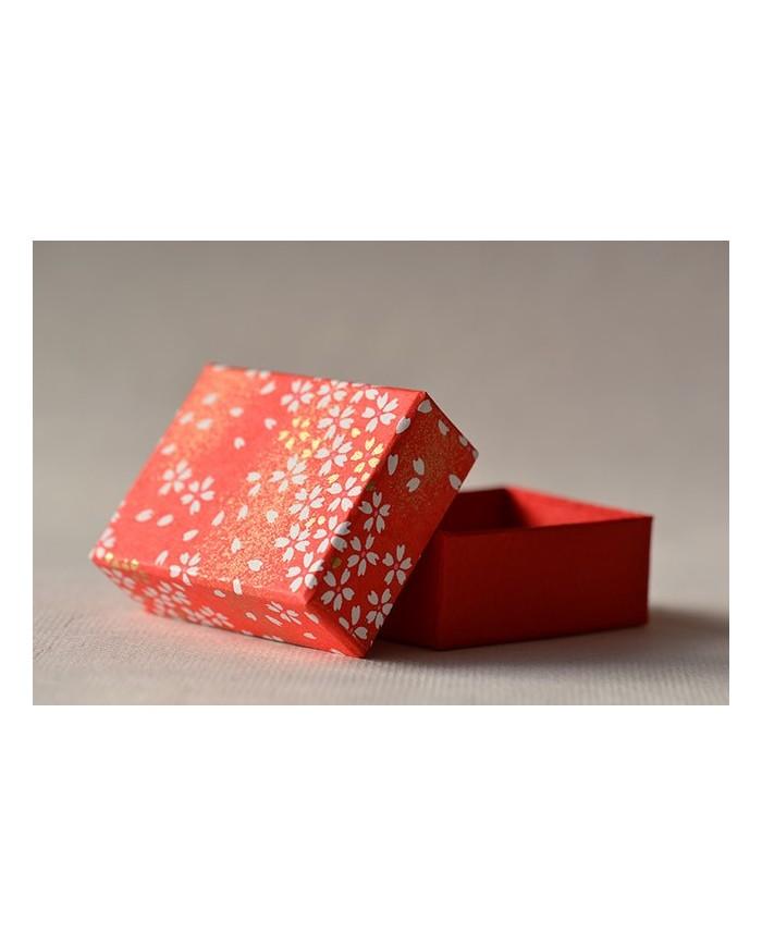 Mini scatola Chiyogami sakura rosso