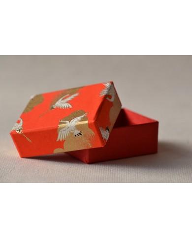 Mini scatola Chiyogami tsuru