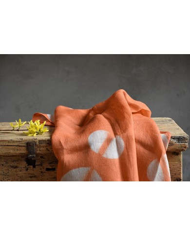 Furoshiki itajime arancione