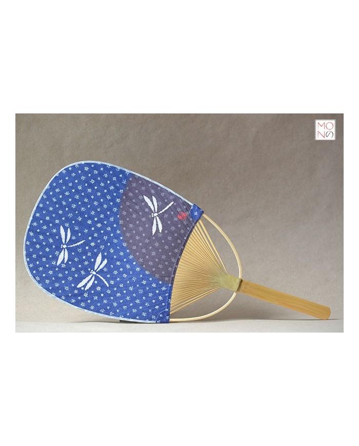 Uchiwa 009d libellule su fondo blu