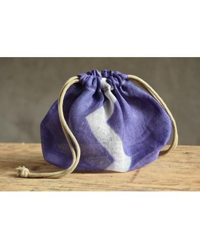 Kinchaku violet chevron