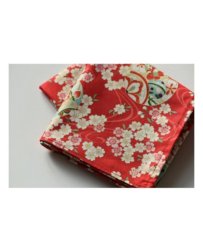 Furoshiki 113 hana rosso