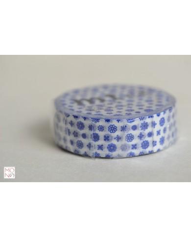 Washitape 076 mini flower blu