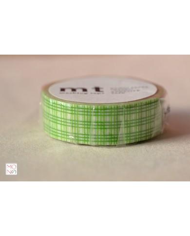 Washitape 103 reticolo verde