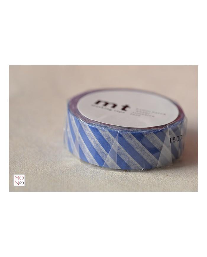 Washitape 110 stripe marine blu