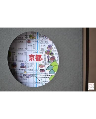 Quaderno kanji kyoto map