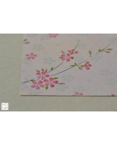 Chiyogami fiori ciliegio su rosa