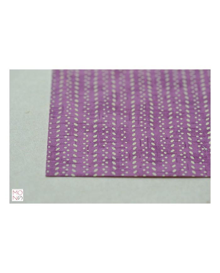 Chiyogami 039 punto bianco su viola
