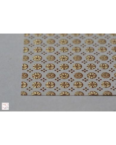 Chiyogami 051 oro marrone su beige