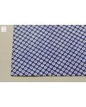 Chiyogami 067 kanoko bianco su blu