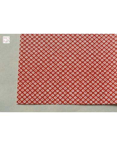 Chiyogami 100 Kanoko bianco su rosso