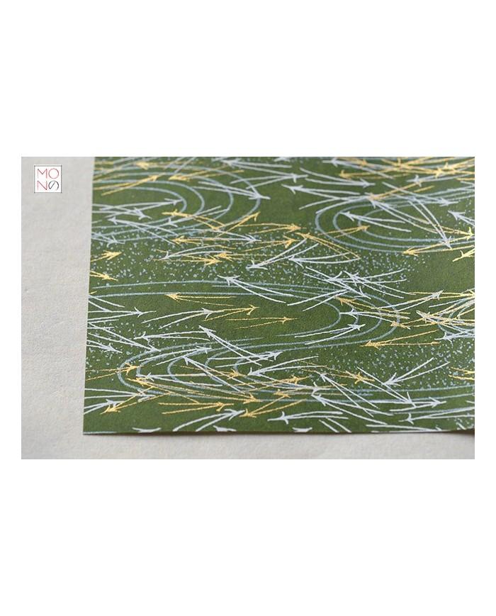 Chiyogami 078 bianco oro verde