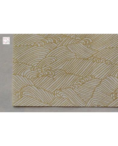 Chiyogami 086 onda oro su bianco
