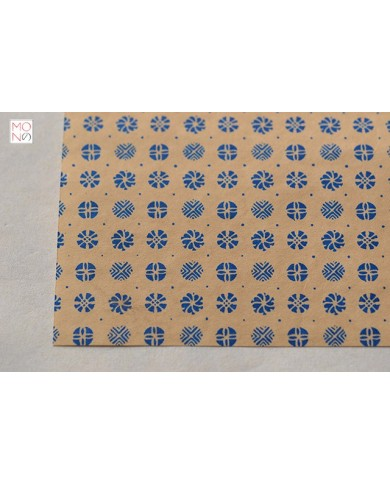 Chiyogami 121 pois blu su ocra